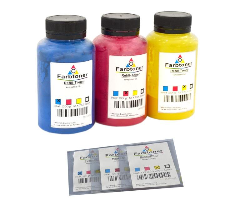 Farbtoner-Refill-Set-3 mit Chips komp. für Canon LBP-5000, LBP-5100