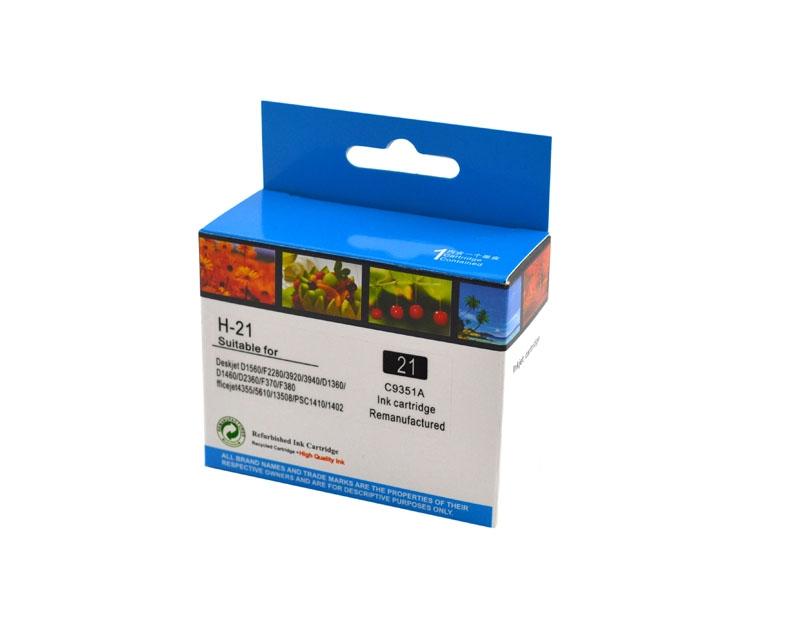 Tintenpatrone Schwarz kompatibel für HP Nr. 21, C9351CE