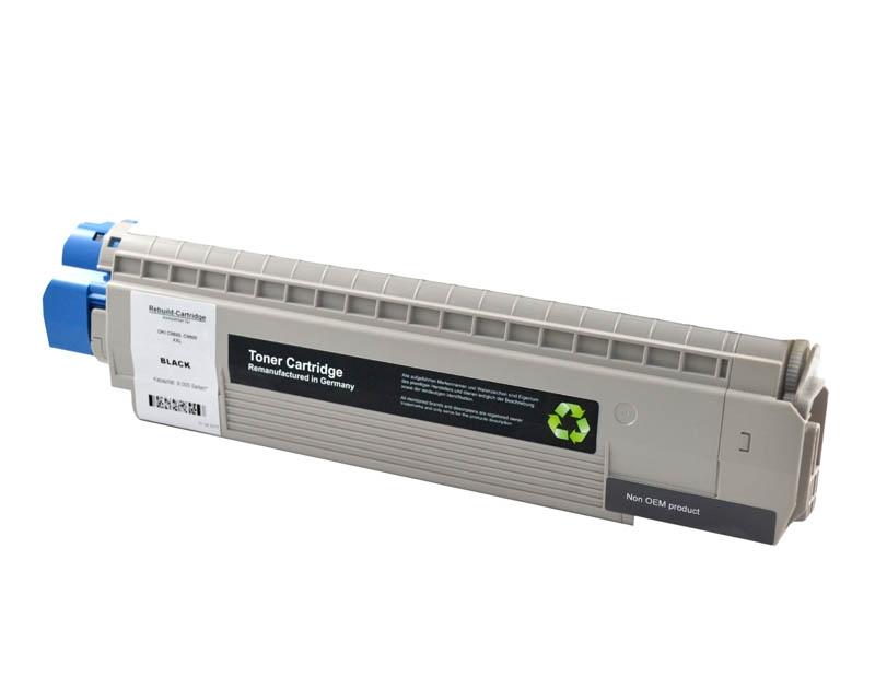 Toner Schwarz kompatibel für OKI C8600, C8800 (XL 9000 S.)