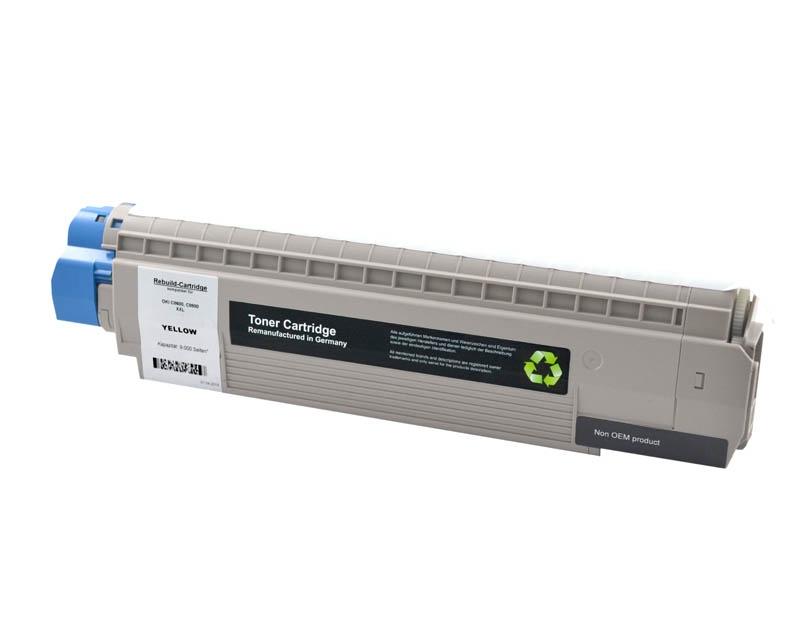 Toner Yellow kompatibel für OKI C8600, C8800 (XL 9000 S.)