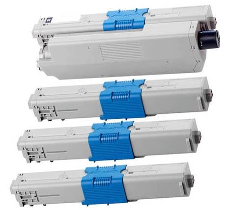 Toner Spar-Set-4 kompatibel für OKI C310, C330, C510, C530