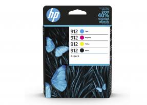 HP 912 Multipack 6ZC74AE (Blau/Rot/Gelb/Schwarz) Original Druckerpatronen für HP OfficeJet Pro 8010, 8012, 8014, 8015, HP OfficeJet Pro 8020, 8022, 8023, 8024, 8025
