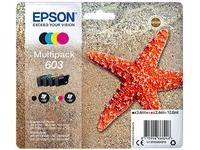 Original Tinte für Epson 603, WF-2830DWF WF-2835DWF WF-2850DWF XP-2100 XP-2105 XP-3100 XP-3105 XP-4100 XP-4105, (Multipack 4-farbig)