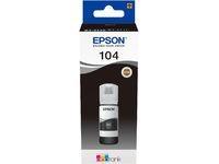 Original Tintenflasche für Epson 104 EcoTank (ET-2710 ET-2711 ET-2720 ET-2726 ET-4700 ET-2712 ET-2721) schwarz