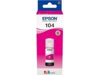 Original Tintenflasche für Epson 104 EcoTank (ET-2710 ET-2711 ET-2720 ET-2726 ET-4700 ET-2712 ET-2721) magenta