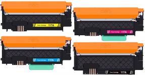 Kompatibel zu HP 117A Toner Multipack Set 4x CYMBK W2070A, W2071A, W2072A, W2073A,