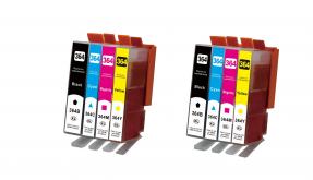 Kompatibel HP 364XL, N9J74AE, Tintenpatrone Multipack Set 8 Stück CMYK