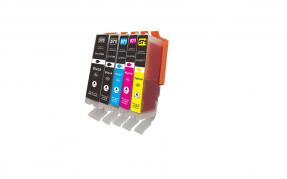 Kompatibel zu Canon Tinte PGI-570PGBK + CLI-571 BK, C, M, Y, Multipack, 0372C004, Tintenpatronen 5er Set CMYK