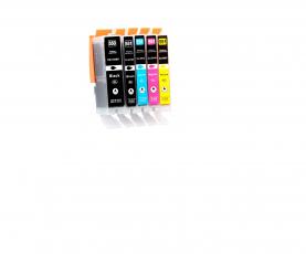 Kompatibel mit Canon PGI-550, CLI-551, PIXMA  Druckerpatronen Multipack Set 5 CMYBK