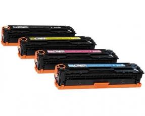 Toner Spar-Set-4 kompatibel für HP CC530A, CC531A, CC532A, CC533A