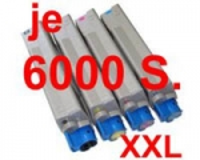 Toner Spar-Set-4 kompatibel für OKI C5600, C5700 (XXXL je 6000 S.)