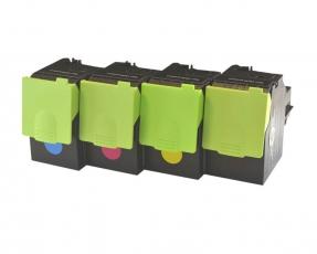Toner Spar-Set-4 mit hoher Reichweite kompatibel für Lexmark CS417, CS517, CX417, CX517